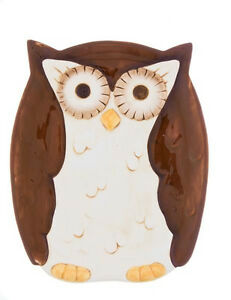 Woodsy Owl Snack / Appetizer Plate 8 inches- Ganz ER22803  Houseware Hoot
