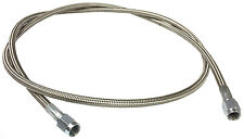"""Braided Stainless AN Brake Line 48"""" -3 Straight Ends #1295"""