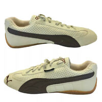 Vtg Puma Speedcat Sparco Leather Sneakers Speed Cat Driving Shoes Beige Rare