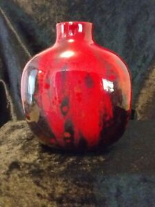 ROYAL DOULTON SUNG FLAMBE FLASK VASE  5 1/2 INCHES TALL