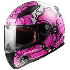 LS2 FF353 RAPID LIGHTWEIGHT FULL FACE MOTORCYCLE HELMET POPPIES DARK PINK
