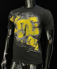 Dc shoes Usa Skateboard Tormt Black/Yellow Classic mens t shirt Small