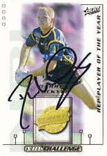 Darren LOCKYER SIGNED 2002  REP PLAYER OF THE YEAR Brisbane Broncos card (DM5)