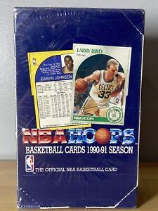 NBA HOOPS 1990-91 Basketball Card Box 36 Packs  Factory Sealed