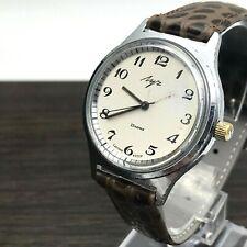 Plata Enmarcado Clásico para Hombre Formal Vintage Reloj Urss Luch 2209 Servicio