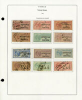 France Timbres Fiscaux 1892 Stamp Collection 100 Different Issues