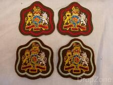British Army Warrant Officer Class One / I, Red / Light Blue Badges / Patches x2