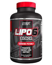 Nutrex Lipo 6 Black 120 Liquid Capsules Fat Burner Maximum Potency EU version