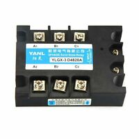 New DC-AC DC 3-32V to AC 480V 20A Three 3Phase SSR Solid State Relay with Cover