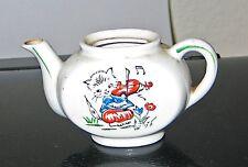 "Kitten Teapot Playing Violin 2 1/4"" Ceramic NO lid from Child's Tea Set"