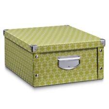 Zeller 17574 Boîte de Rangement Blue Stripes carton Décor Env. 33 x 33 5 X...