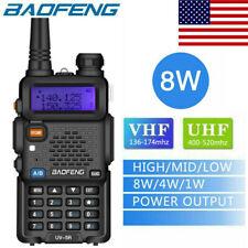 US 2021 Baofeng UV-5R Two way Radio 8W VHF UHF FM Transceiver Ham Walkie Talkie