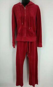 Express Women's Vintage Velour Sweat Pants, Medium& Zip-Up Hoodie Jacket, MED