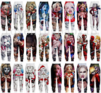 Men Women Casual Jogger Trousers Harley Quinn 3D Print Fitness Sweatpants Pants