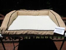 """Orthopedic Gel Foam Plush Pet Bed for Dogs or Cats 38"""" x 28"""" Tan"""