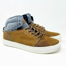 Vans Alomar (Tops) Brown White Leather Classic OTW Mens Sneakers Size 11