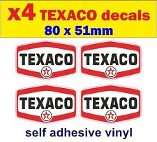 4x TEXACO fuel stickers car vw van bus mini ford Rally Racing Motorcycle decals