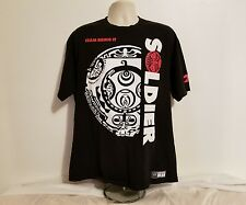 WWE The Rock Team Bring It Push The Pace Tribal Soldier Mens Black XL T-Shirt