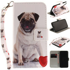 Pug Magnetic PU Stand Case Wallet Cover For Android Phone iPhone 11 Pro Max X XS