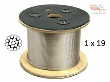 3.2mm 316 Marine Stainless Steel Wire Rope Balustrade Decking Cable 1 x 19 Const