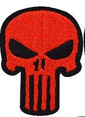 BIKER RED AND BLACK   PATCH .IRON OR SEW ON