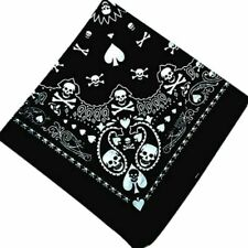Black Skull Bandana Hiphop Gothic Headwear/Hair Band Scarf Neck Wrist-Headtie# 2