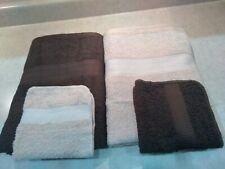 "The Big One, 2 Bath Towels, 54"" x 30"", and 2 wash cloths, tan & brown, Nwt"