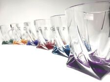 Crystal Set of 6 Rocks Glass Whiskey Cognac Vodka Tumbler 11oz / 340 ml Bohemia