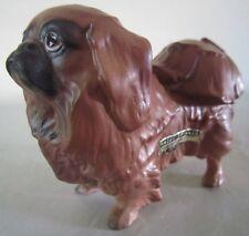 1956 Hagen Renaker Dws Pekingese Dog Ming Toy H-5333 w/Label California Pottery