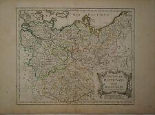 c1780 Genuine Antique colored map Germany, Haute-Saxe, Basse-Saxe. De Vaugondy