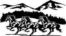 "Running Horses Vinyl Decals Stickers (10.5"" x 6"")"