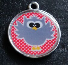 Cute Owls no.2 Designer Pet Id Tags Dog Cat Tag
