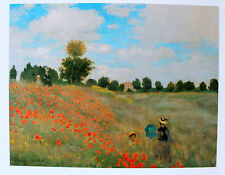 The Corn Poppies by Claude Monet Les Coquelicots PF 130  Printed in France