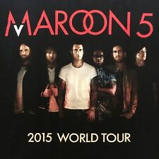 black Maroon 5 t shirt-2015 World Tour-american apparel-Adam Levine-New-(M)