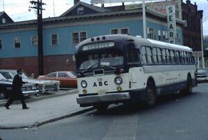 ABC Bus Line GM Old Look bus Kodachrome original Kodak slide