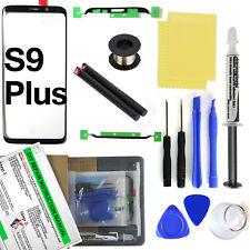 Samsung Galaxy S9 Plus SM-G965 Black Glass Lens Screen Replacement Loca UV Glue