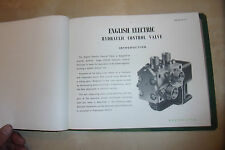 ENGLISH ELECTRIC CONTROL VALVE AIRCRAFT PART OPERATION CONSTRUCTION TEST MANUAL
