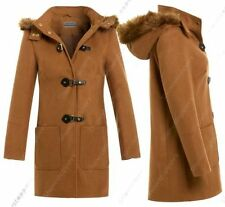 Button Faux Fur Hip Length Coats & Jackets for Women