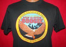 Vintage 1990 Bean Botones Boogie abate de Indiana 50/50 Camiseta L Motero
