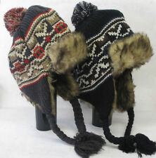 Chapeaux noire en fourrure pour homme