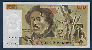 FRANCE - 100 FRANCS DELACROIX Fay n° 68. 2 de 1978. en SUP   S.2 308110
