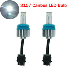2X Canbus 3157 T25 CSP 9SMD White LED Bulbs 2000LM Car Brake Stop Lights DRL