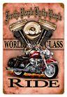 Vintage Ride Motorbicycle   Metal Sign