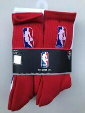 NBA Basketball Logoman 6 Pair Crew Long Socks