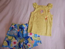 NWT 4 4T GYMBOREE RAINBOW CABANA LITTLE SISTER TOP & SHORTS
