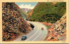 Postcard A California Highway 1943