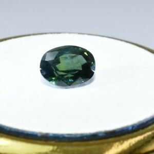 Australian Natural Faceted Sapphire -1.55CT Parti Blue & Green Oval  Gemstones