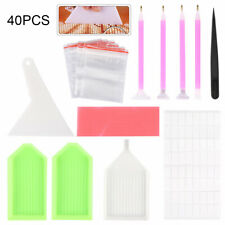 Plastic Diamond Painting Tools Embroidery Kit Art Accessories Pen 40x 5d UK