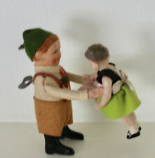 Antique SCHUCO Working Wind-up Bavarian Boy Dancing w/ Girl (with Key) Germany