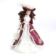 1/12 Puppenhaus Miniatur Porzellanpuppen Klassische Dame Mit Hut 1pcs GY